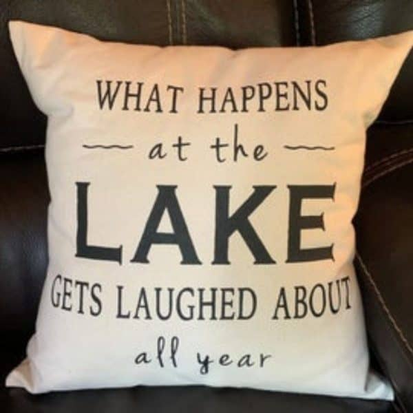 pillow with cute quote, pillow, decorated pillow
