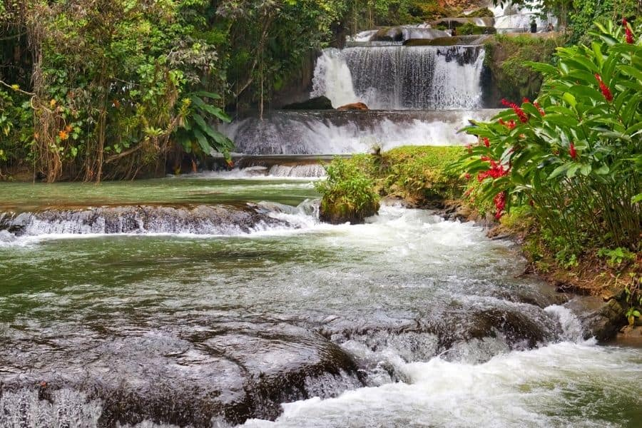 dunns river falls, waterfall, jamaica, life of travel